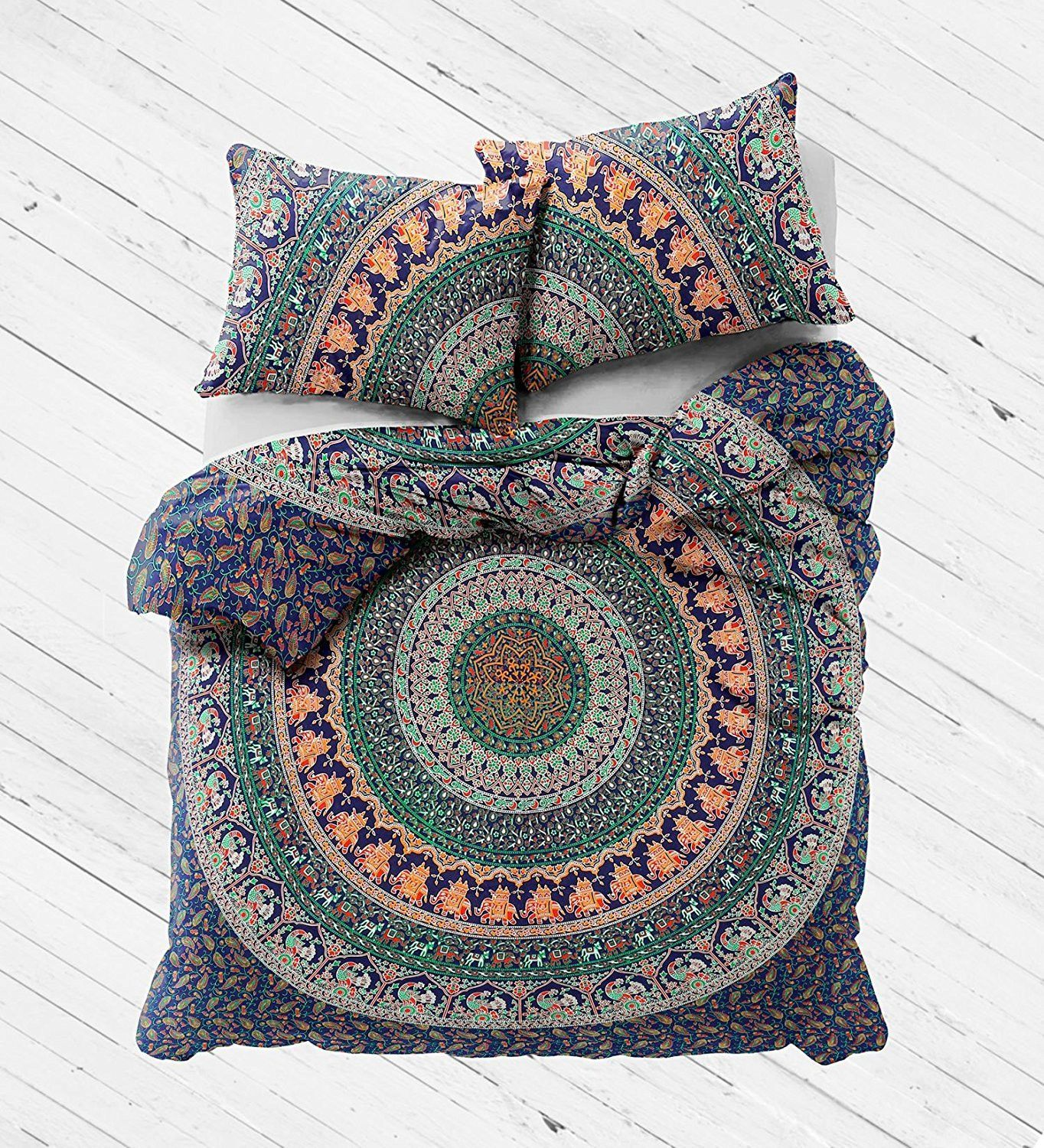 New Boho Hippie Eberlee Tapestry Full Duvet Cover Set Mandala Duvet Cover Queen Size Duvet Covers Full Duvet Cover