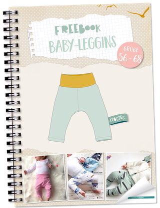 Photo of Freebook: Baby-Leggins nähen (Gr. 56 – 68) – Lybstes.