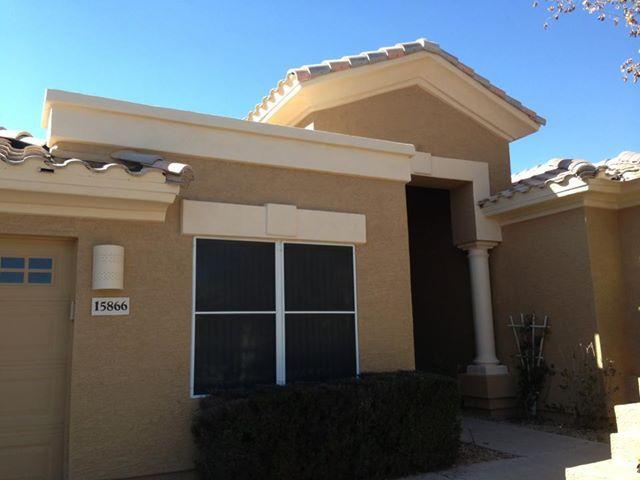 Exterior of an az home colors tan plan and verona beach for Arizona exterior house colors