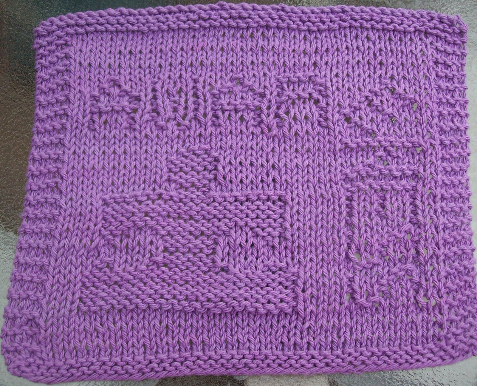 DigKnitty Designs: Autism Awareness * Free* Knit Dishcloth Pattern ...