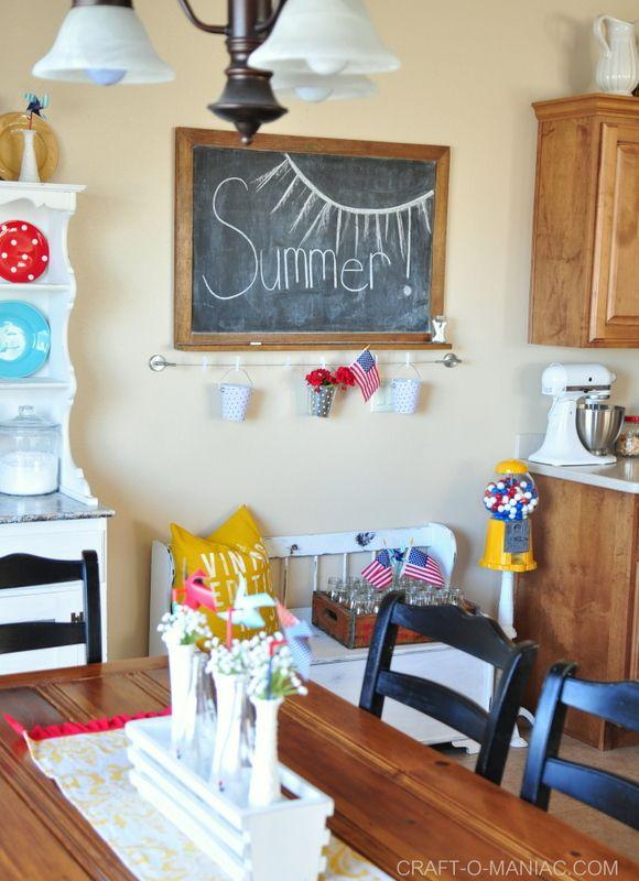 Summer Patriotic Kitchen Decor