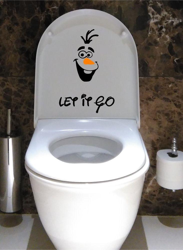 Olaf Frozen Disney Toilet Seat Decal Vinyl Decal Sticker Children Kids In Home Furniture