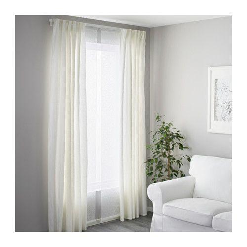 Vidga Triple Curtain Rail White Ikea Cool Curtains Curtain