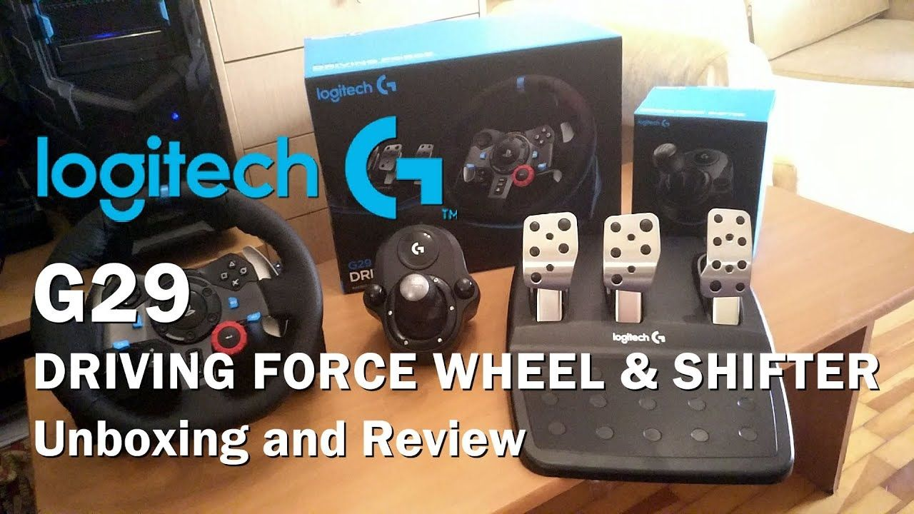 The Logitech G29 Driving Force Wheel and Logitech Shifter