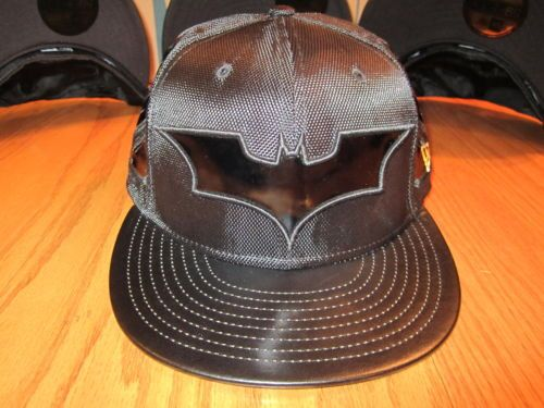 Dark Knight Rises Batman Suit Hat New Era 5950 Fitted Hat DC Comics ... 60bf9642a21