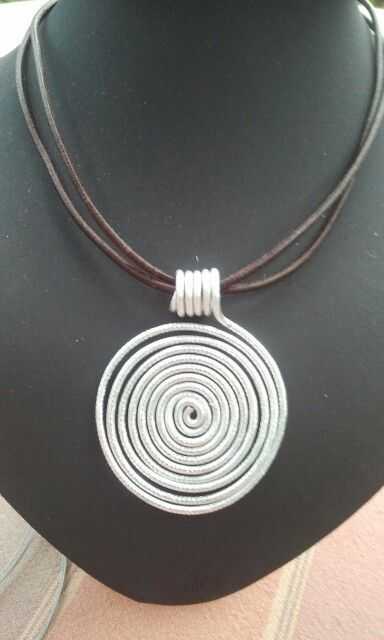 Photo of Silver wire chain, #diysilvernecklakinspiration #chain #silver wire