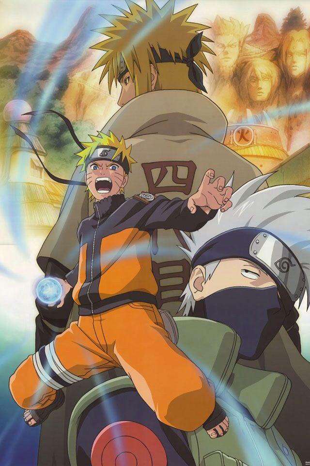 Uzumaki Naruto, Hatake Kakashi, Namikaze Minato