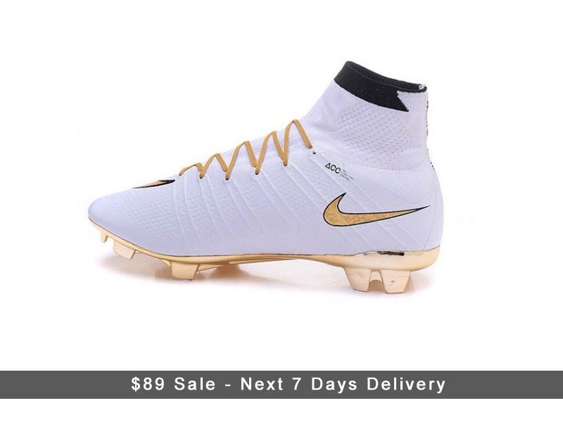 finest selection 6f56f e17ef 2016 Nike Mercurial Superfly 4 CR7 Cleats FG Gold and White ...