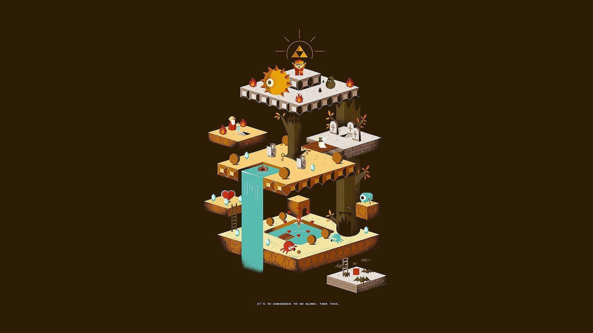 free desktop backgrounds for zelda Retro gaming art