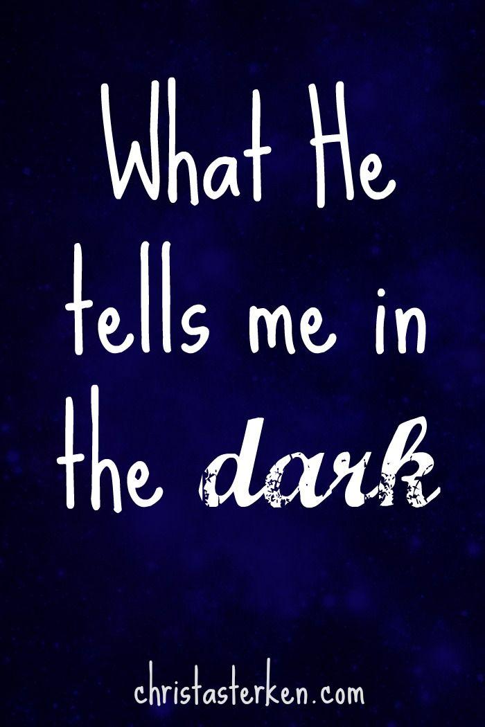 What He Tells Me In The Dark - Christa Sterken