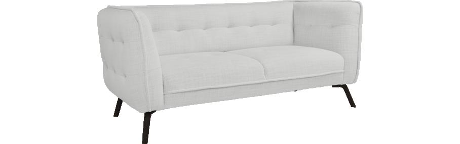 como canap 2 places en tissu fasoli grey sky et pieds fonc s id es pour la maison pinterest. Black Bedroom Furniture Sets. Home Design Ideas
