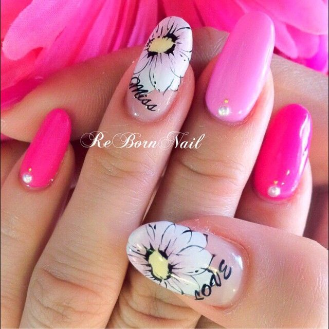Spring * flower #nailart#nail#gelnail#gelnails#gel#naildesign ...