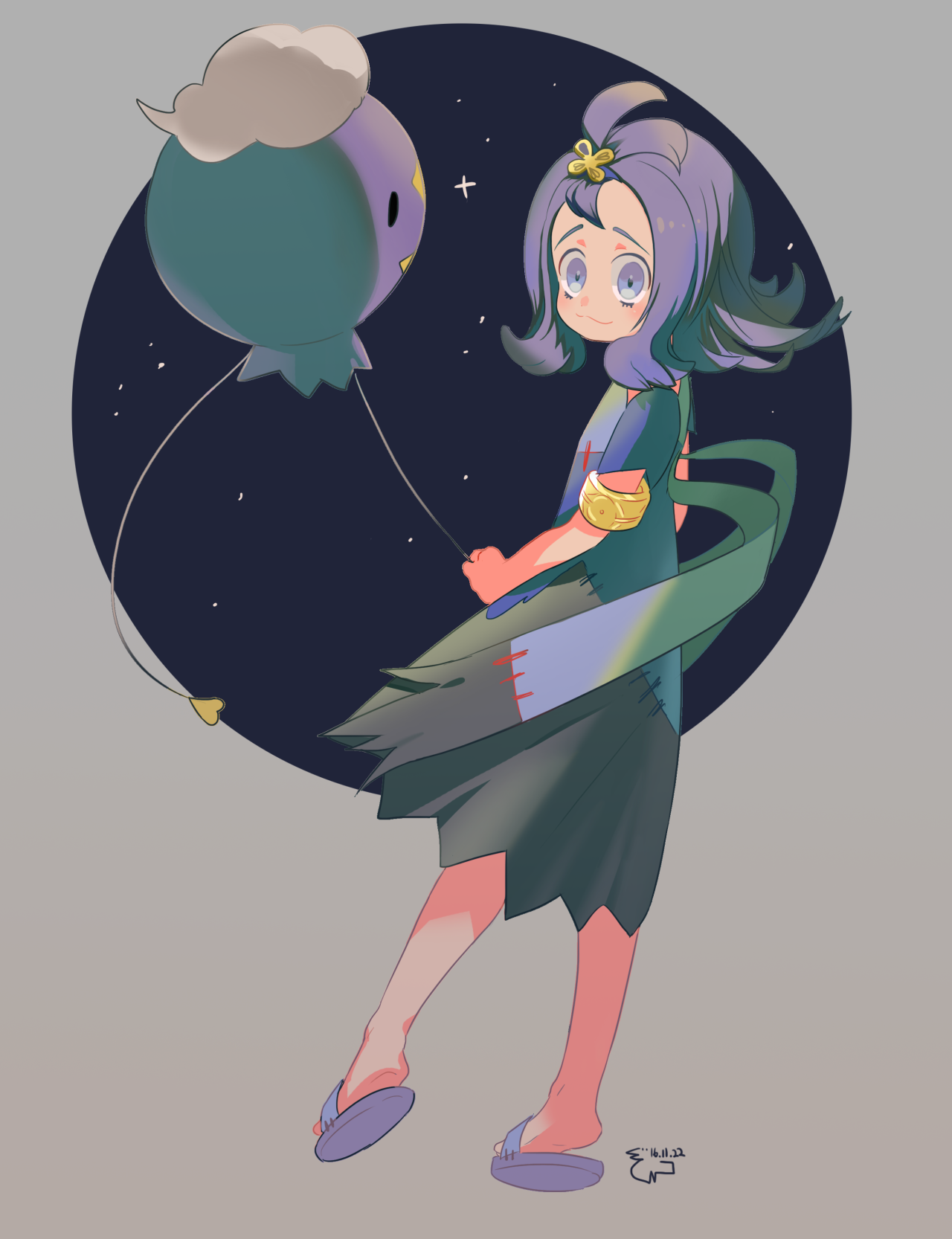 Acerola and Drifloon