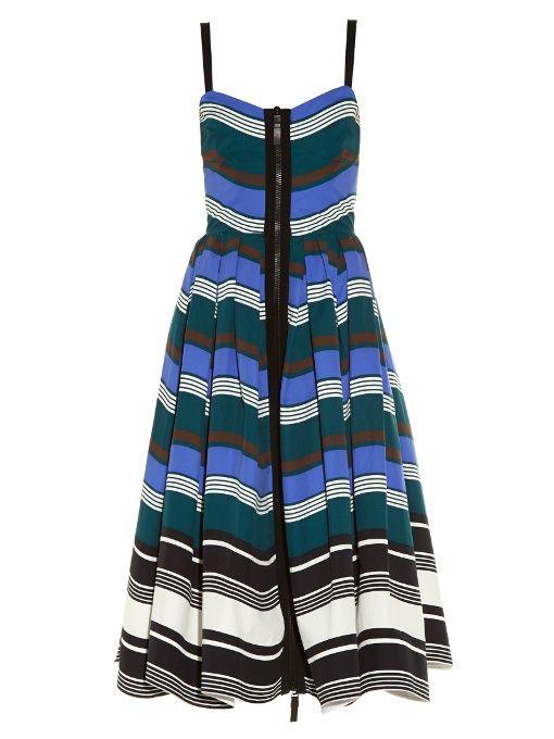 Fendi Wave Zip Through Midi Dress Cloth