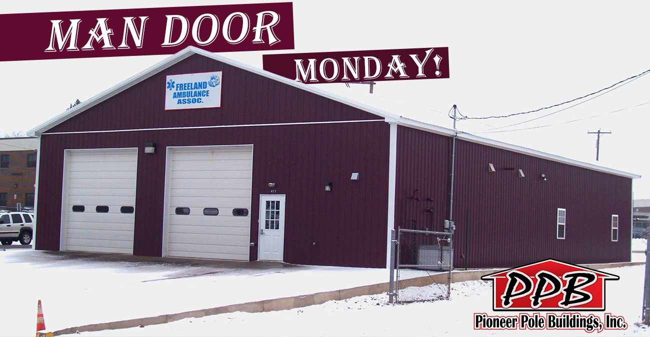 Man Door Monday 1 3068 9 Lite Entry Door Building Dimensions 50 W X 80 L X 14 H 50 Standard Trusses 4 O Garage Design Pole Buildings Two Car Garage