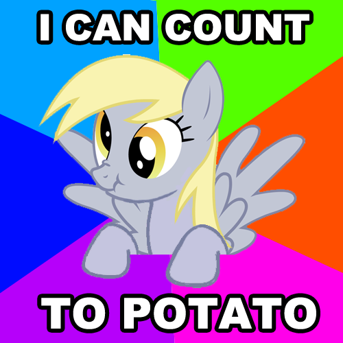 "I fixed the ""I can count to potato"" meme to make it less ..."