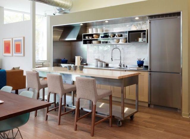 Narrow Kitchen Island Ideas di 2018 Unique Kitchen Pinterest