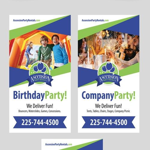 Attractive Banner Stand for Party Rental company Signage contest