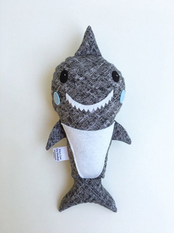 Handmade Shark Softie by MoonOverMyMonkeys on Etsy