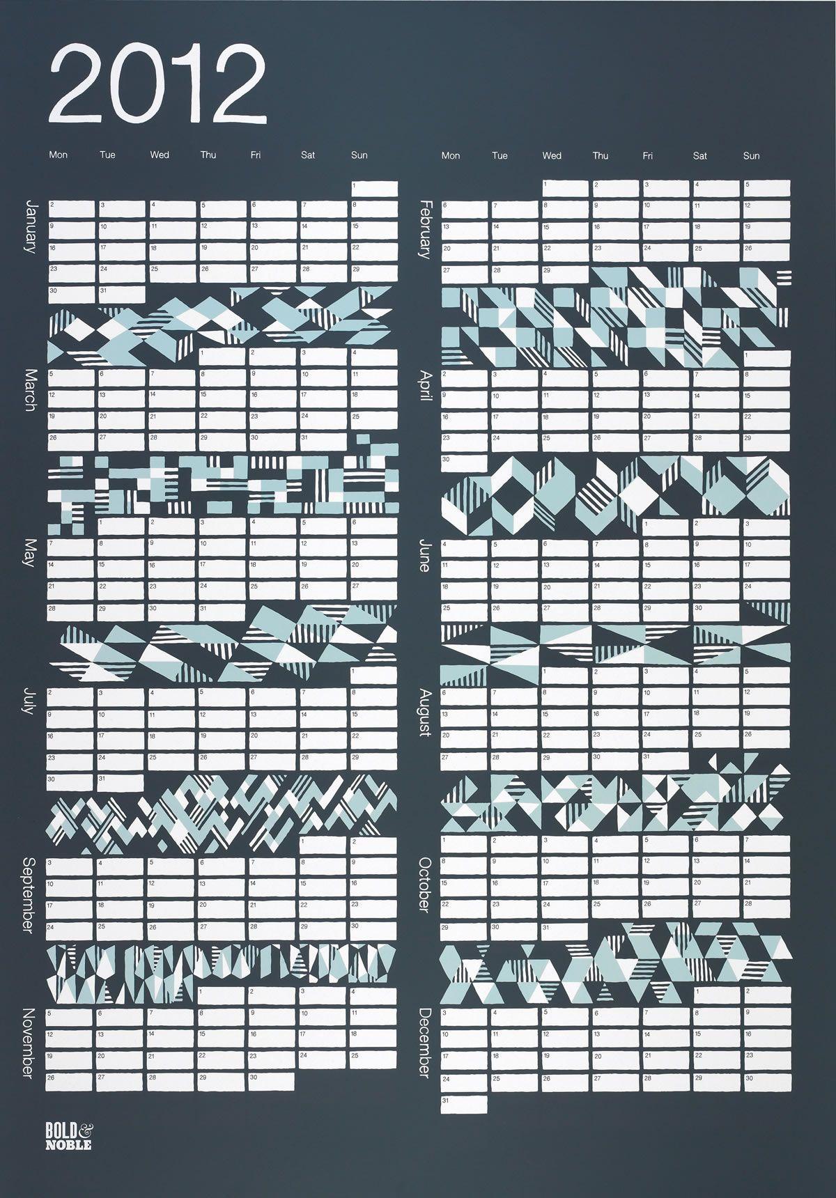 2012 Geometric Calendar.