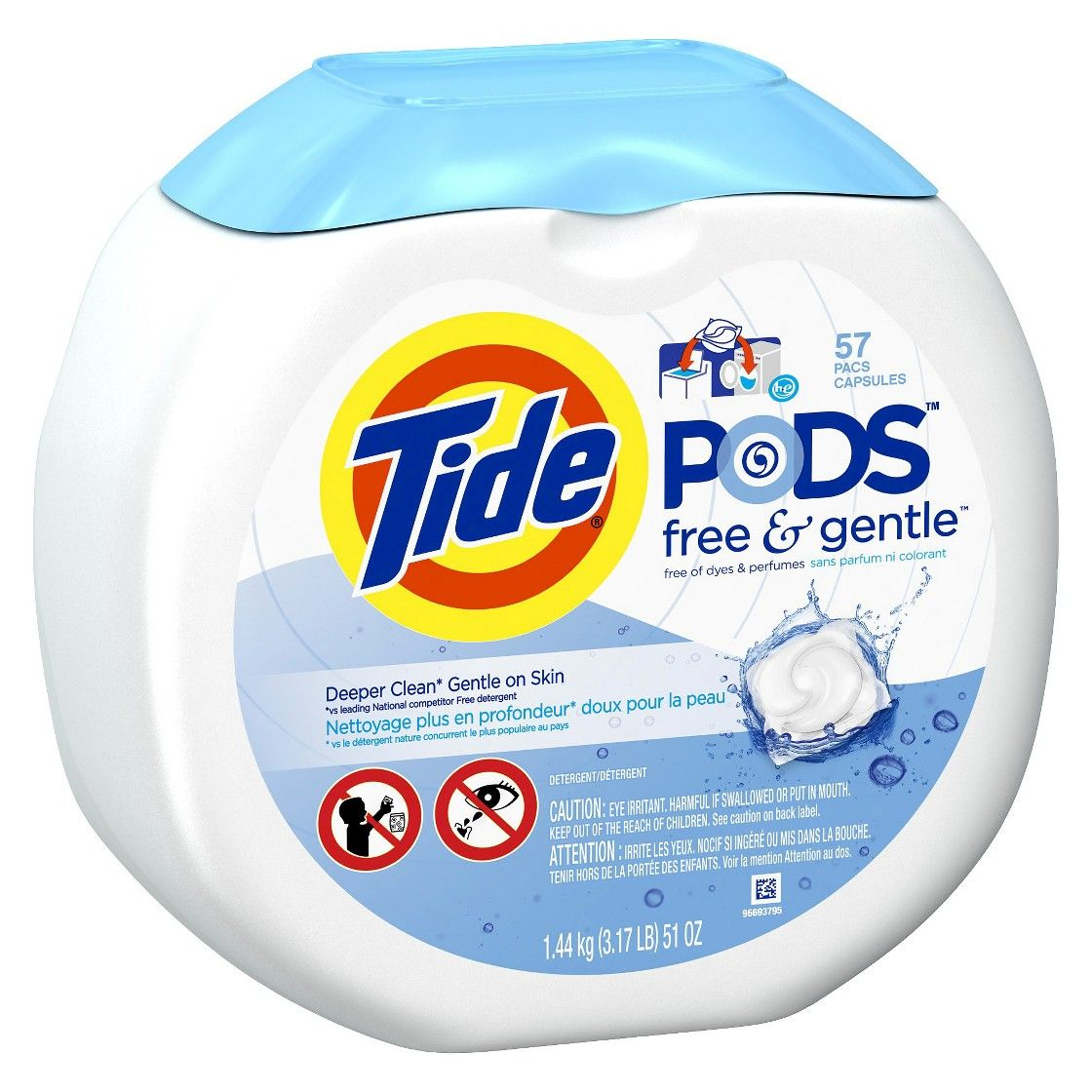 tide pods free gentle laundry detergent pacs 57 count tide pods