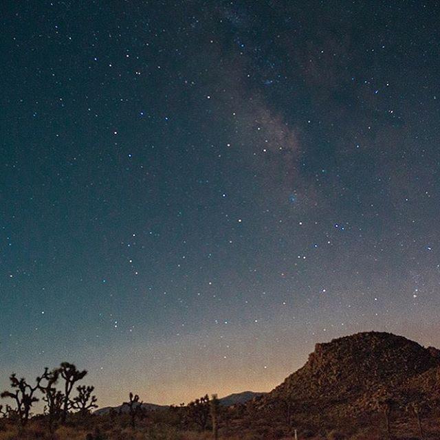 Nighttime Photo Of A Starry Desert Sky Landscape Fine Art Photography