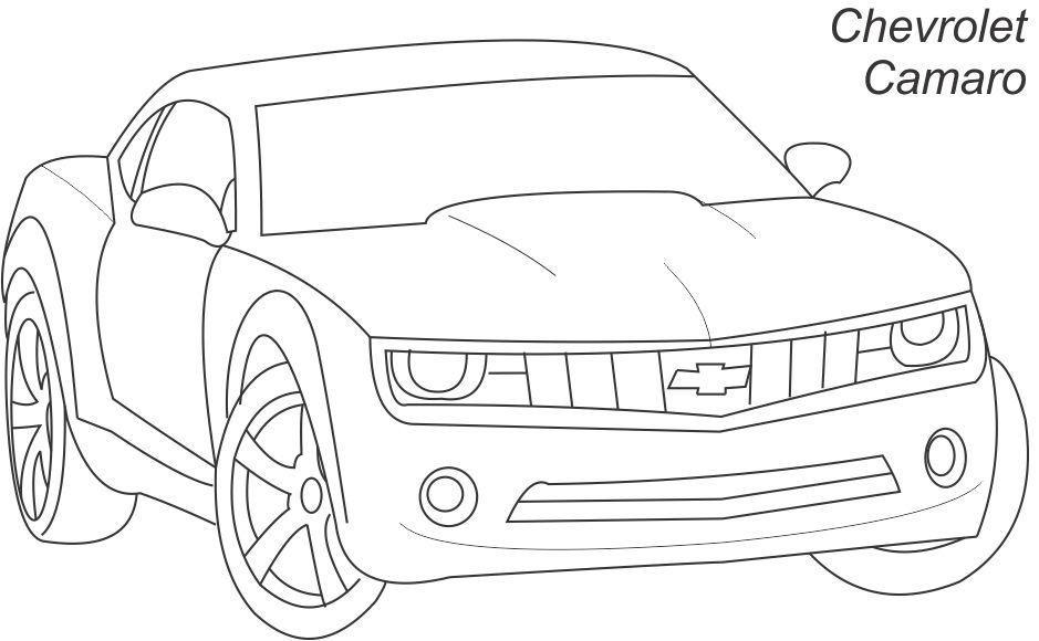 camaro outline