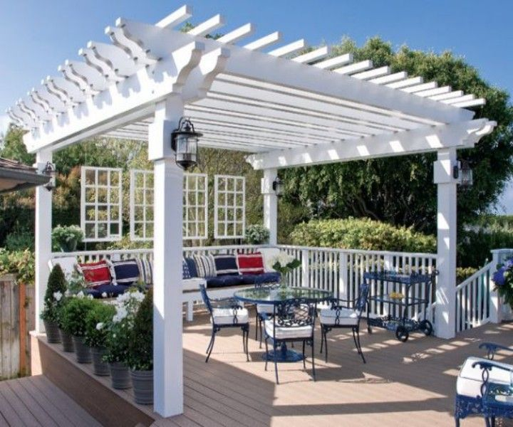 Dining In The Midst Of Greenery Pergola