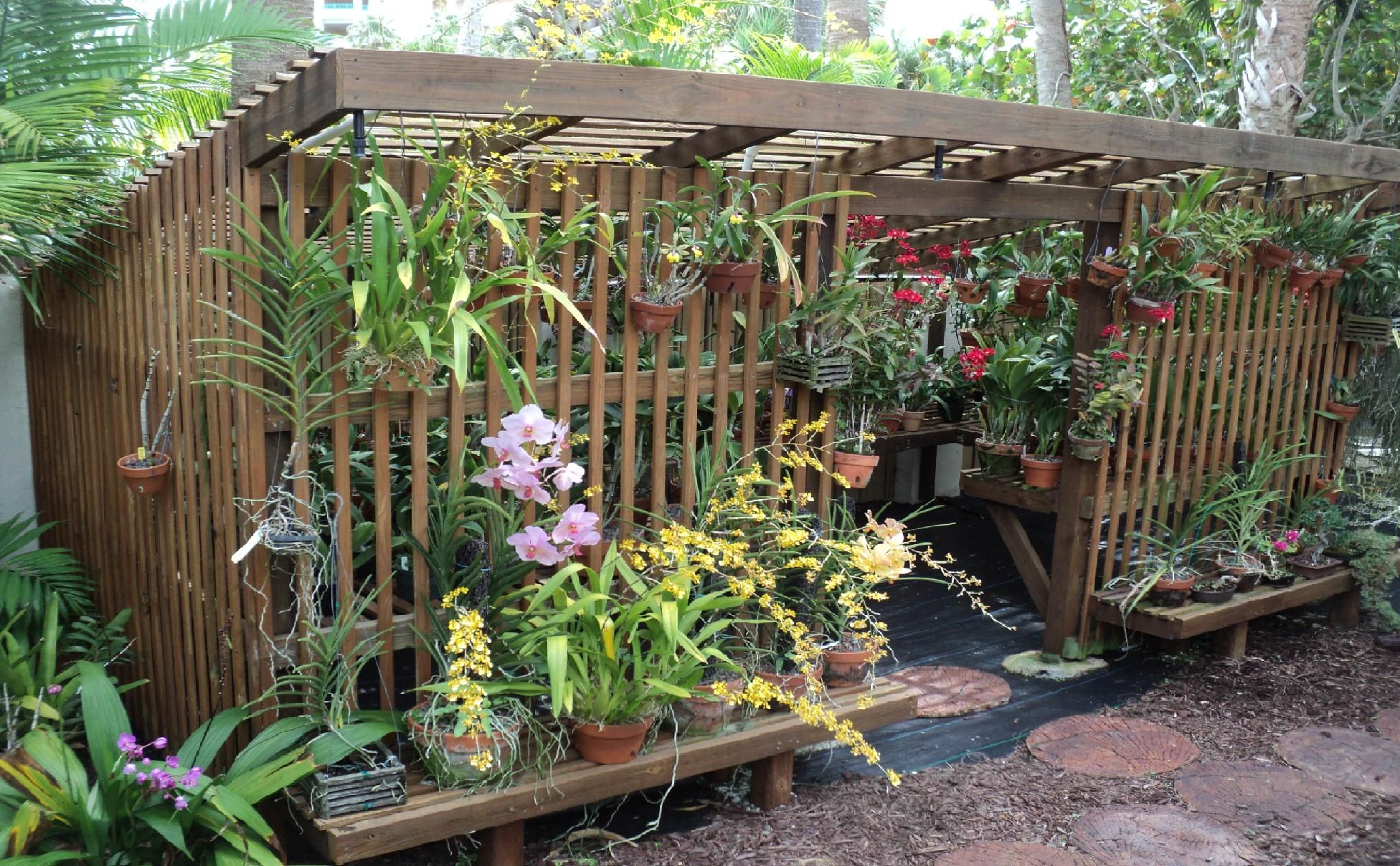 How To Build An Orchid Lath House Welcome To Chadwick Son Orchids Orchid House Shade House Plants Backyard shade house ideas