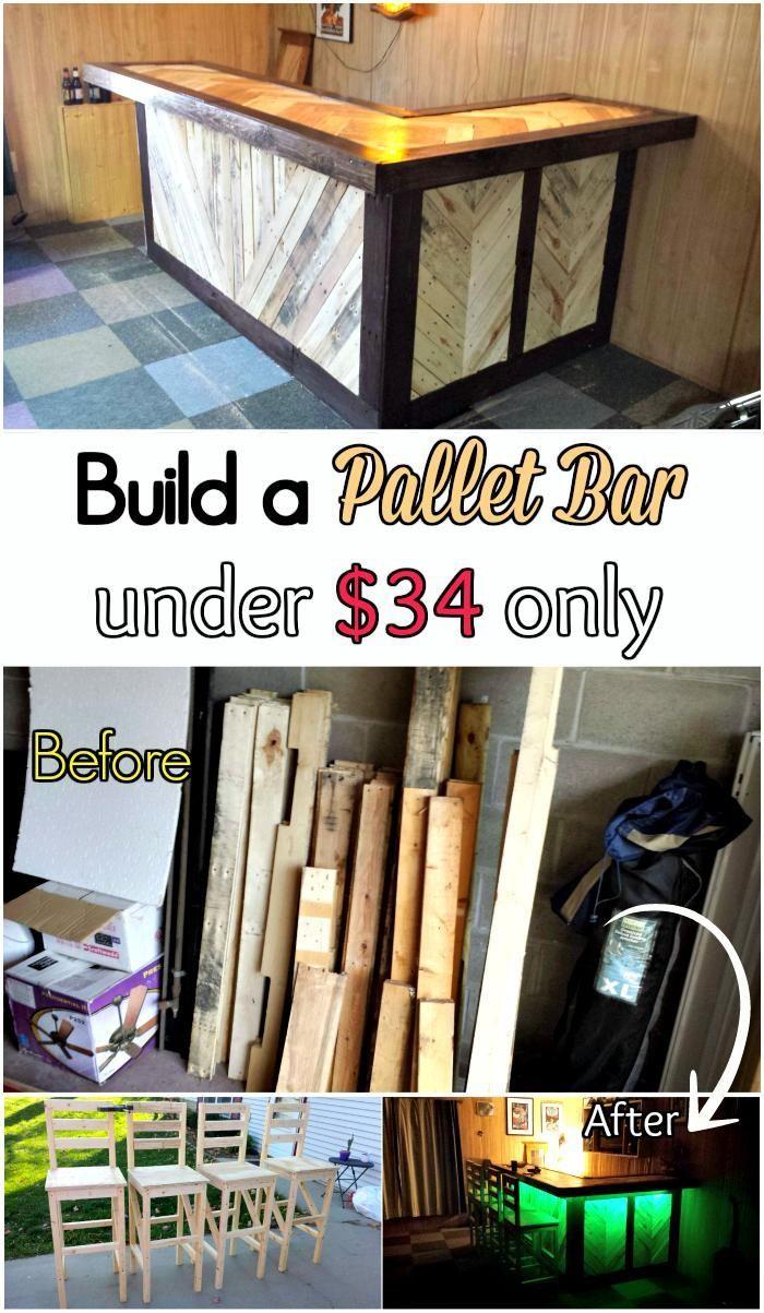 DIY Tutorial – Pallet Bar under $34 - 150 Best DIY Pallet Projects ...