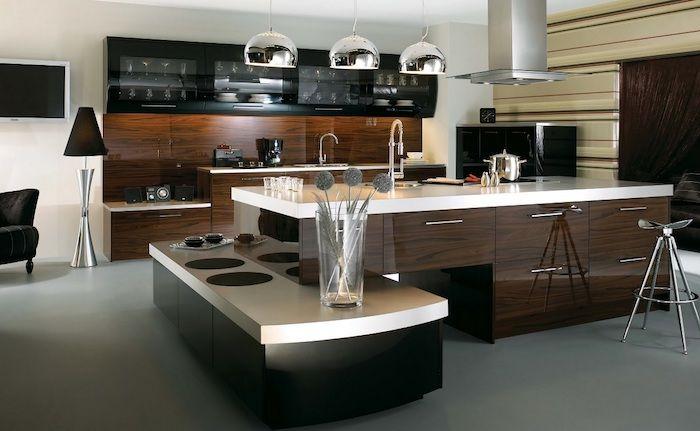 ▷ 1001 + modèles de la cuisine moderne pour vous inspirer Pinterest - Modele Cuisine Avec Ilot