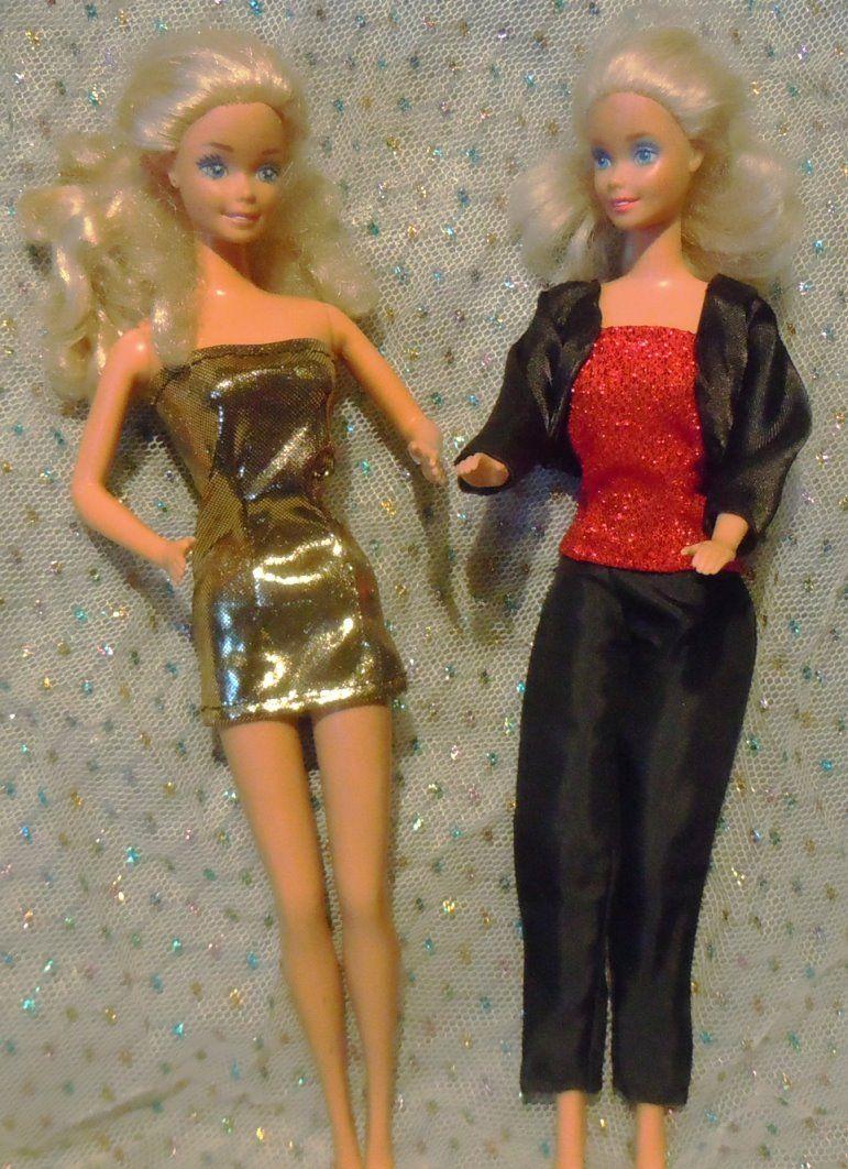 Barbie-Schnittmuster: Party-Girls | Schnittmuster für Barbie, Ken ...