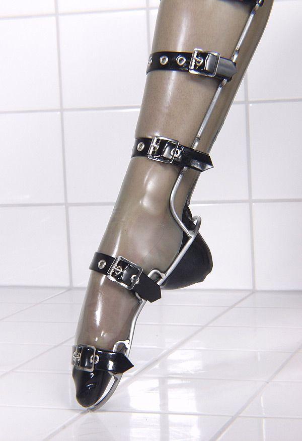 Ballet boots heel pointe latex