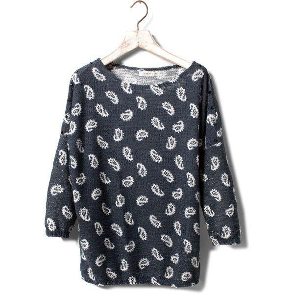 Pull & Bear Paisley Print Sweatshirt ($20) ❤ liked on Polyvore