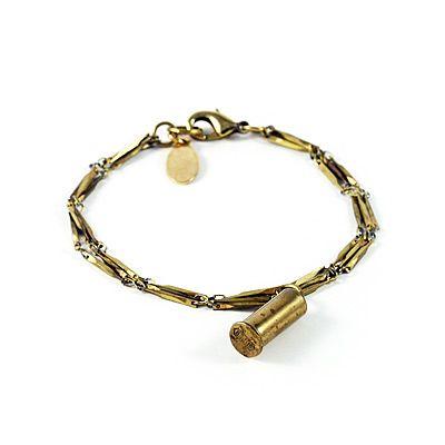 bullet casing charm bracelet