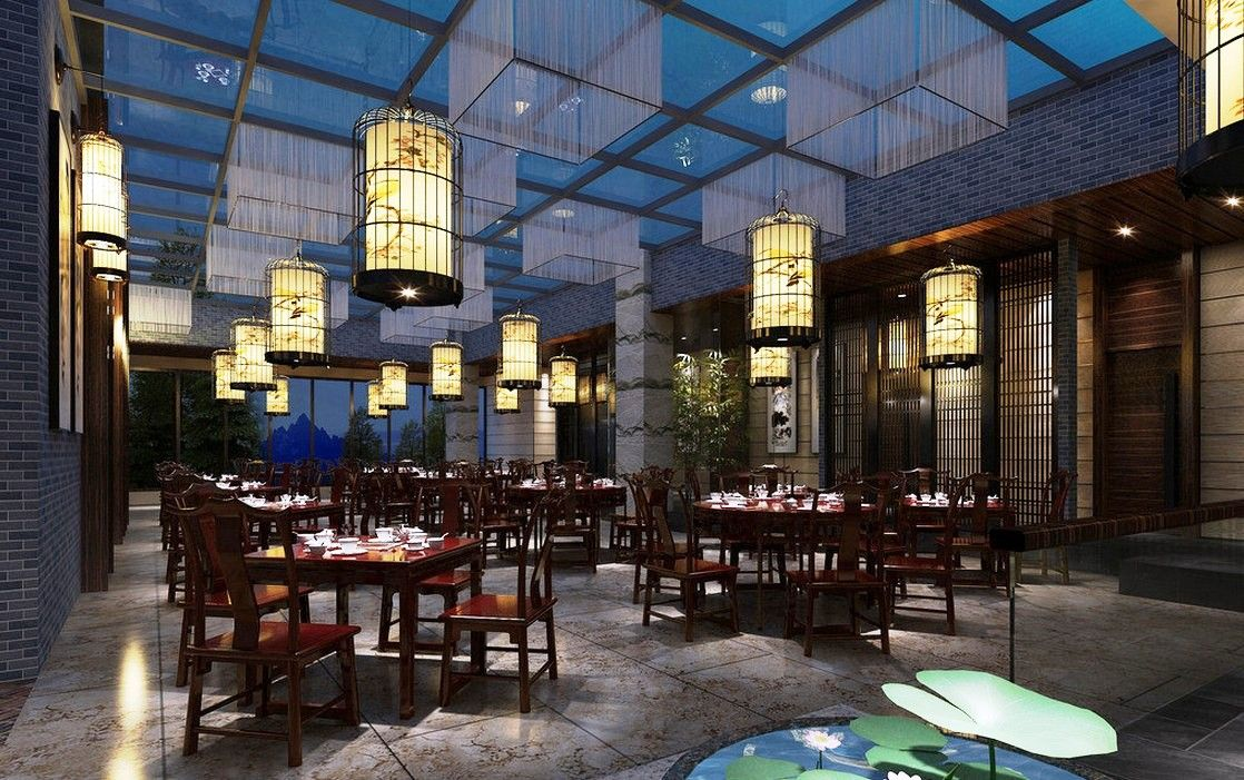 Classic Chinese Restaurant With Lantern For Thirty Best Interior Design Ideas