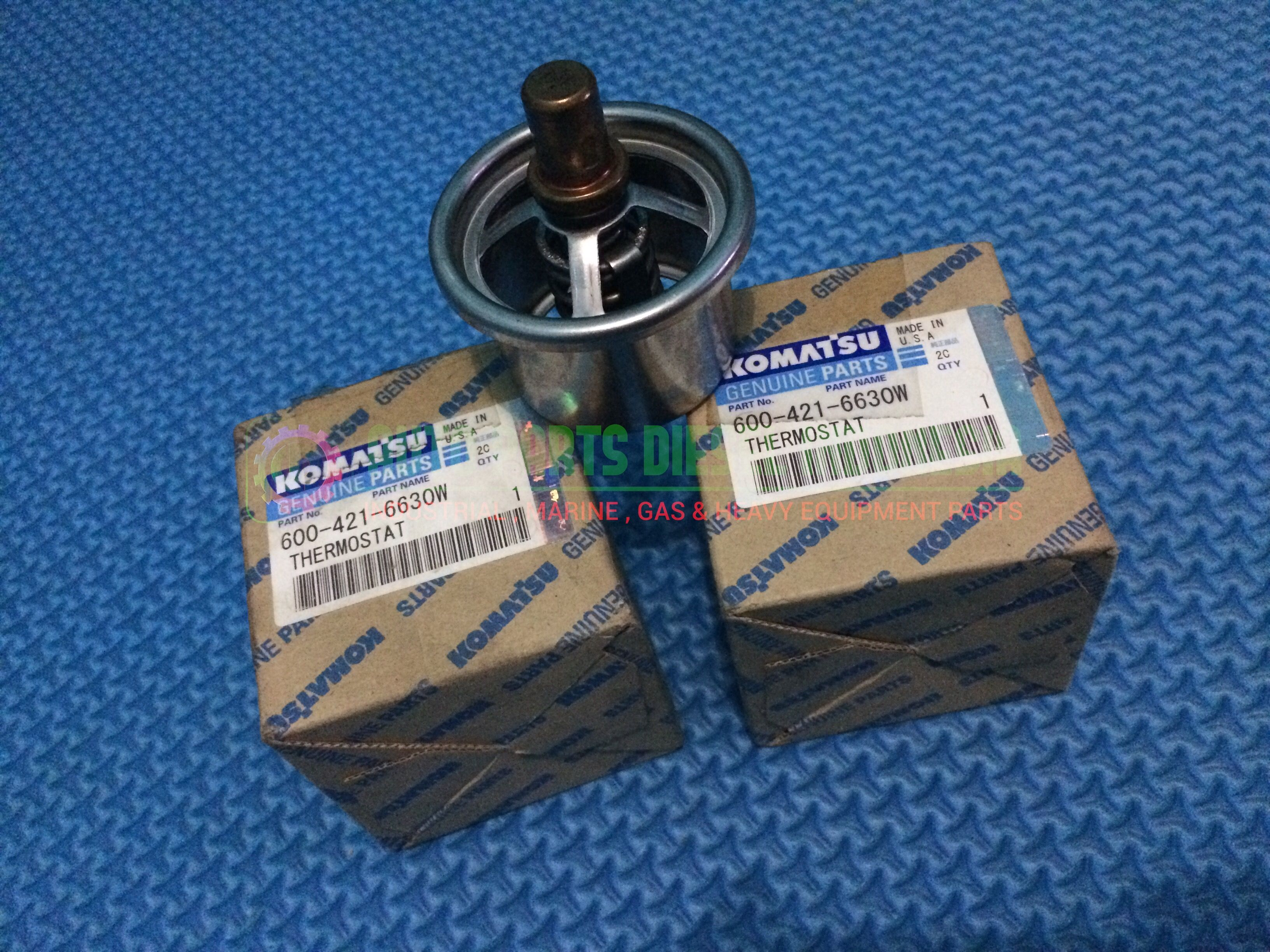 Thermostat 600-421-6630W Komatsu Genset Engine SAA6D-140E-2 Komatsu