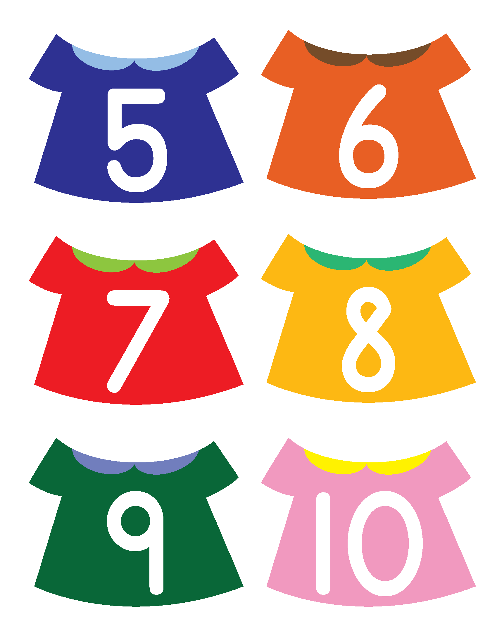 Put The Numbers On The Clothesline