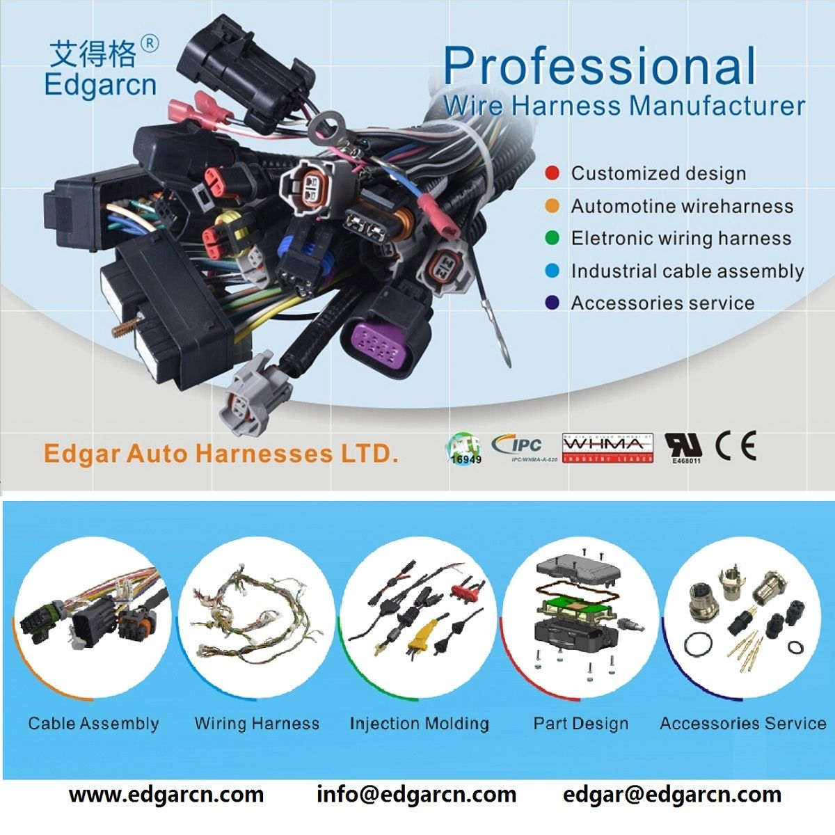 E Electronic Wireharness D Data Communication Cable G
