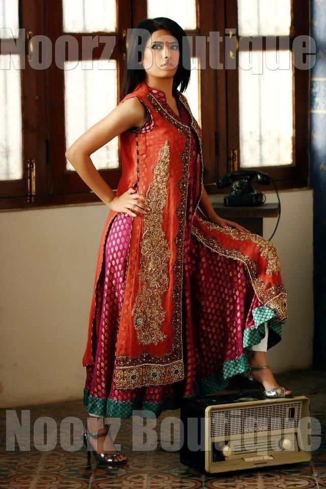 orange-red-pink-boutique-party-wear source: http://pakifashion.com ...
