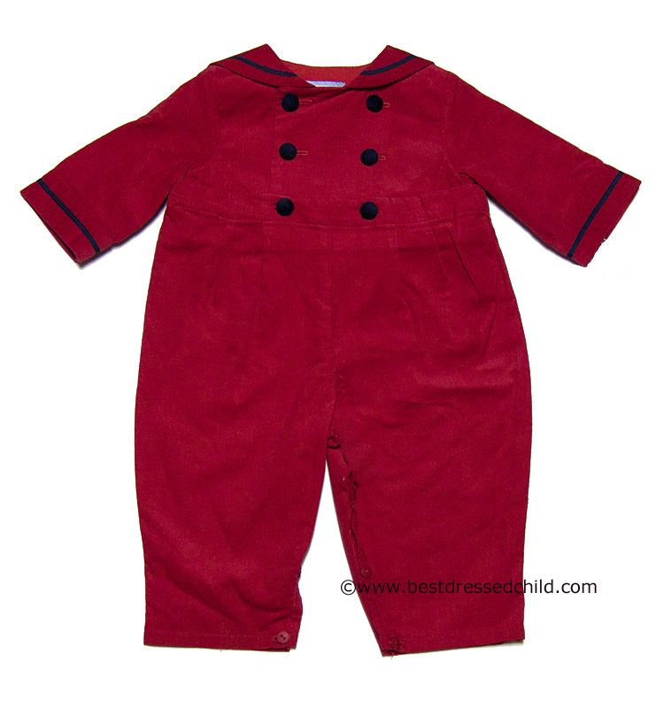 f400732c1 Gordon   Company Baby   Toddler Boys Christmas Red Corduroy with ...