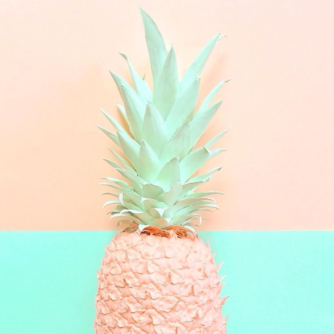 Ruby Rabbit Partyware On Instagram I M Not Sure What I Love More Mint Peach Or Pineapples Pic By Cl Pineapple Wallpaper Pastel Colors Pastel Aesthetic
