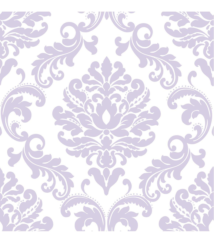Wallpops Nuwallpaper Purple Ariel Damask Peel And Stick Wallpapernull Damask Wallpaper Nuwallpaper Peel And Stick Wallpaper