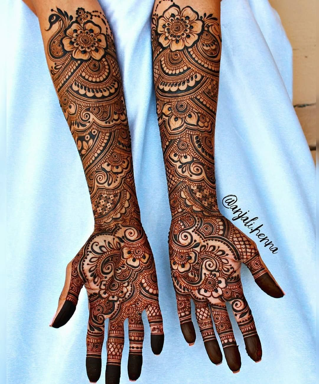 Dimple On Instagram Swipe For More Henna Designs Which One 1 10 By Anjali He Latest Bridal Mehndi Designs Indian Mehndi Designs Dulhan Mehndi Designs