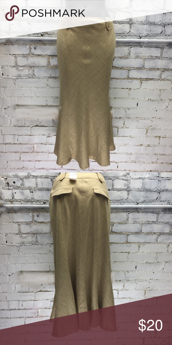 08f7d048d6 Worthington Size 10 Tulip Bell Midi Skirt Tan skirt with flare at bottom,  new never worn, size 10. Length from waist to hem 34 Waist 28-30 Skirt  rests lower ...