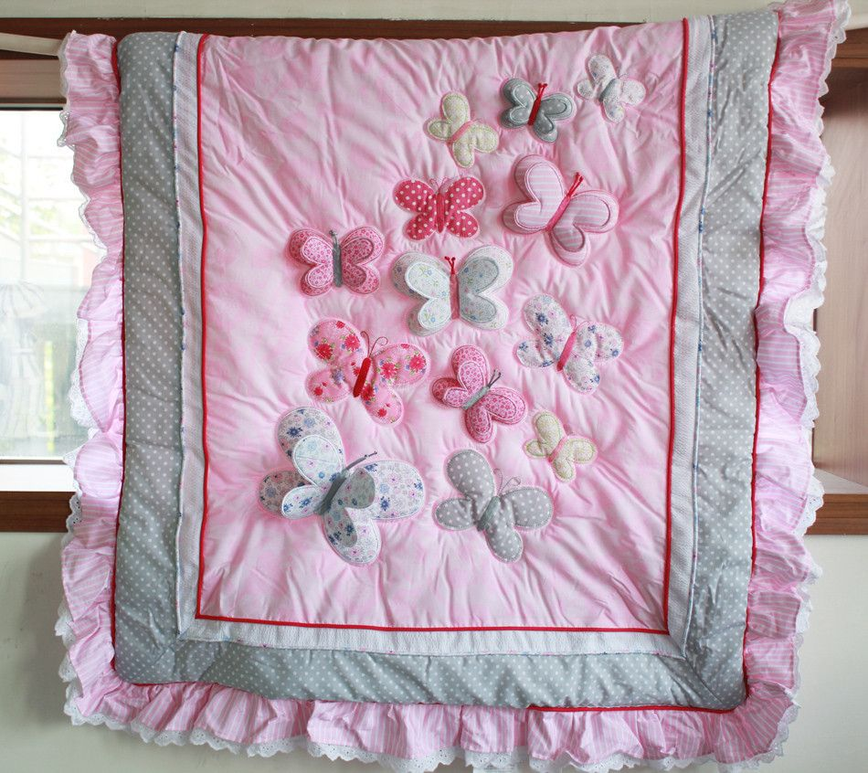Crib size quilts for sale - On Sale Pink Princess Pup Quilt With Baby Crib Size Satin Flannel 29x35 Free Shipping