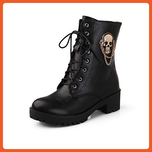 Girls Bandage Skull Heads Platform Imitated Leather Boots