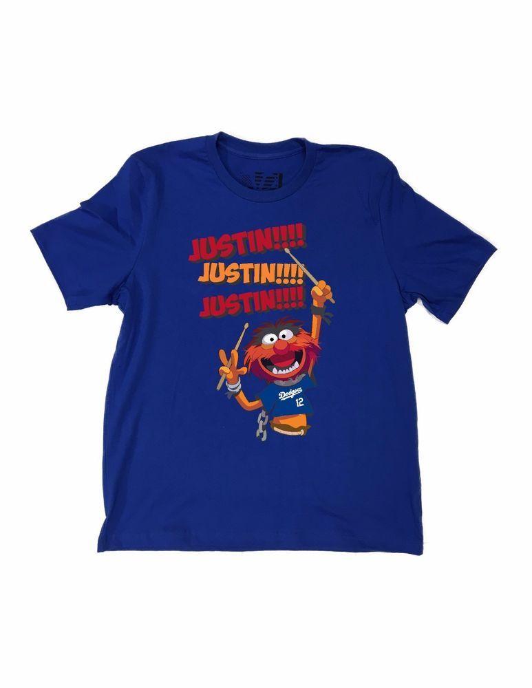 official photos c29c9 c399a Dodgers Animal Justin Turner JUSTIN! Tee Shirt LA Los ...
