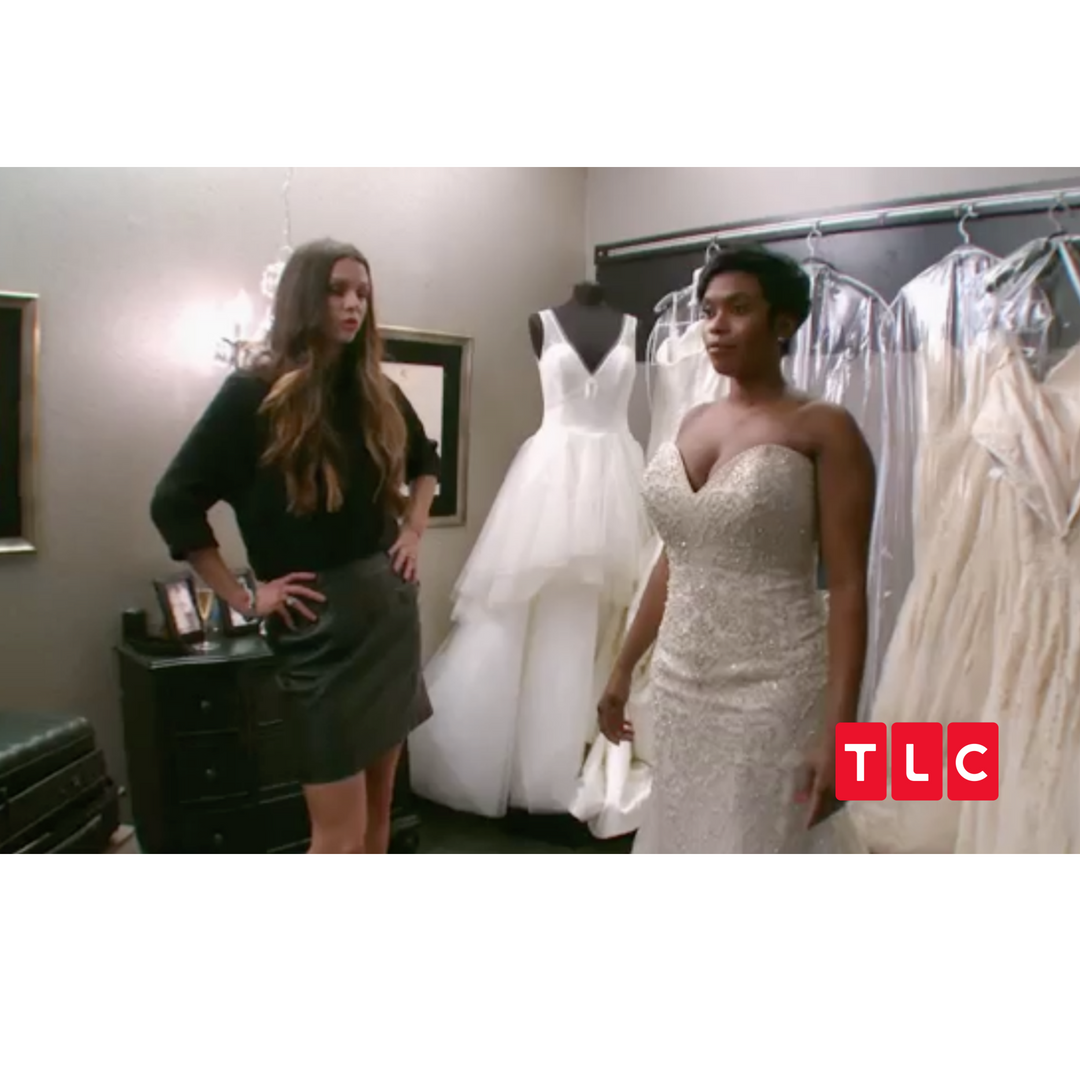 Wedding Hairstyle Price List: Bride Shornell McNeal, Rivini, Strapless Sweetheart