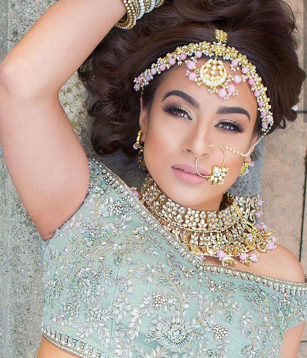 Bridal makeup and jewellery indian fashion jewellery